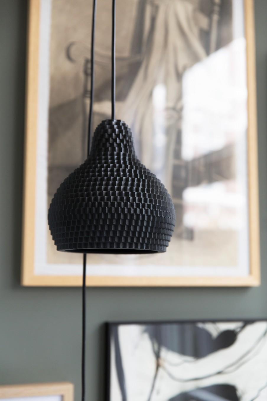 zwart-hanglampje